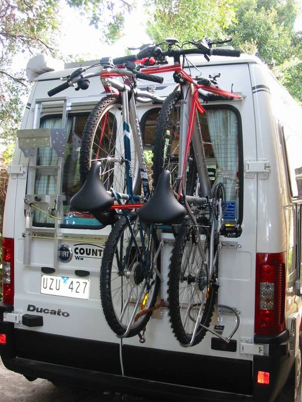 Bike Rack On A Rear Door Of The Ducato 2 8jtd Maxi For