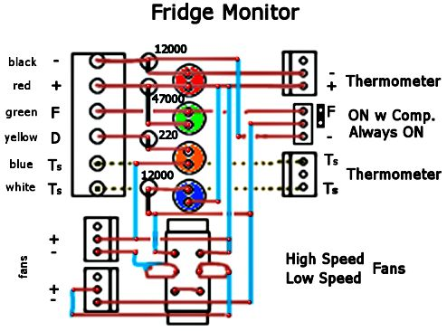 fridge changes in manins motorhome fridge monitoring circuit