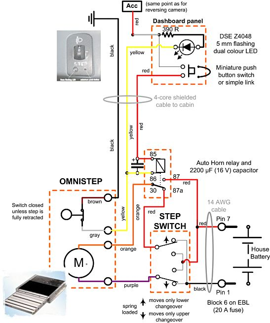 step_schematic omni step wiring diagram wiring low voltage under cabinet lighting motorhome reversing camera wiring diagram at virtualis.co